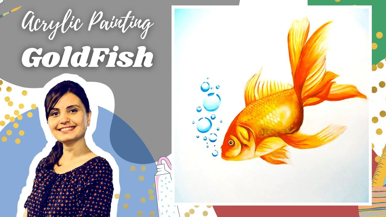How to paint a realistic gold fish with gouache colors for How to paint a fish