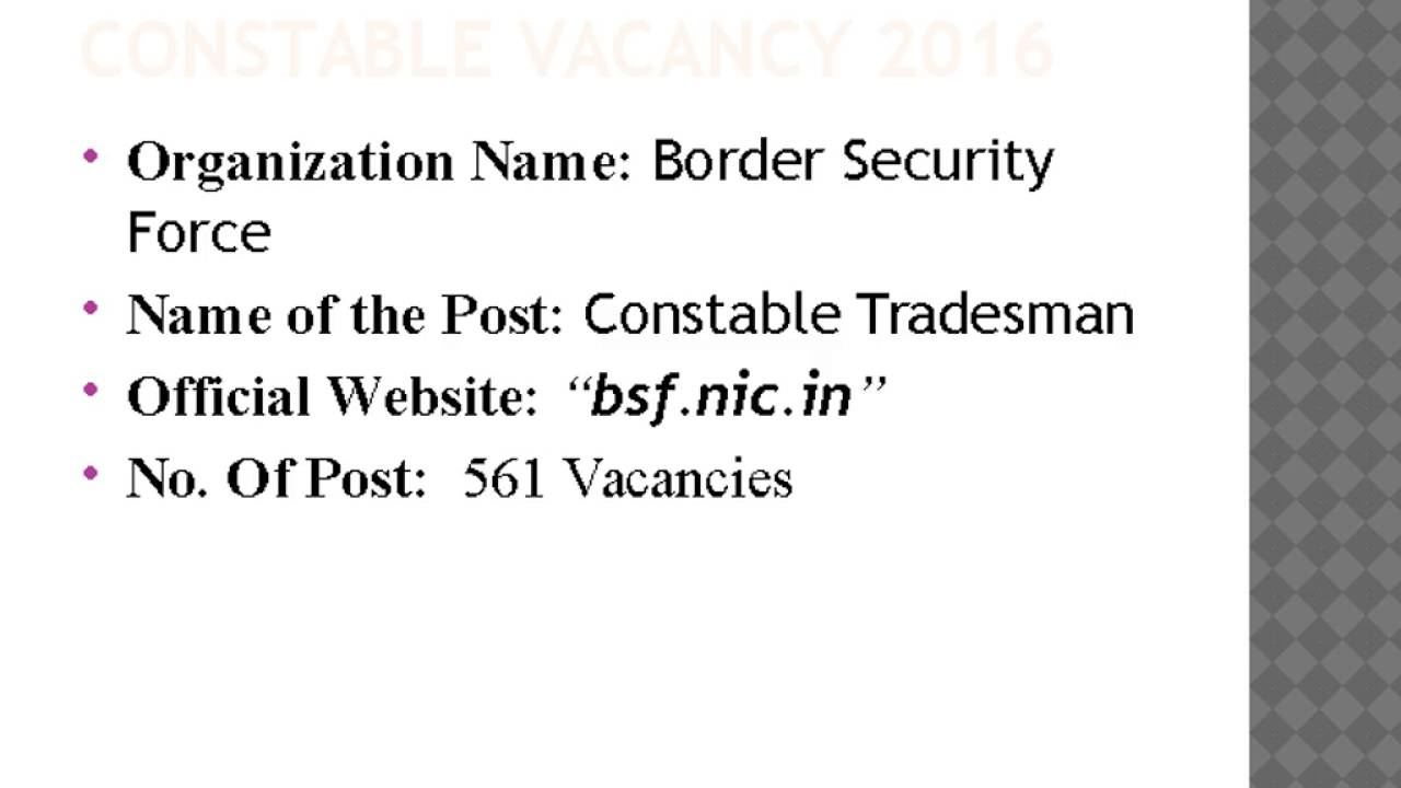 BSF Application Form 2016, BSF Recruitment 2016 - YouTube on application form word document, out of order sign pdf, application form excel, application form design, application form print, birth certificate pdf, fill out application pdf, costco application pdf, blank employment application pdf, application form online, application form graphics, financial statement pdf,