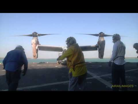 Osprey Takes On Supplies from USS Sacajawea - July 2015