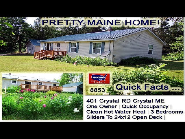 Homes For Sale In Maine | 401 Crystal RD Crystal ME MOOERS REALTY #8853