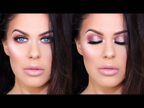 GET READY WITH ME!! | WEARABLE  HOLIDAY GLITTER MAKEUP!!