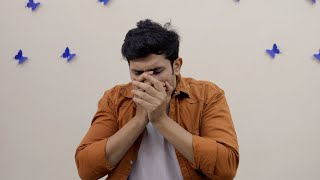 Attractive young boy coughing hard - Chinese coronavirus outbreaks in India