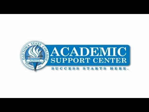 Daytona State College - Academic Support Center - YouTube