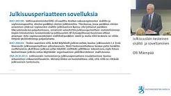 Julkisuuslain keskeinen sisältö ja soveltaminen, Olli Mäenpää