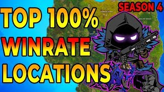 *NEW* BEST FOUR 100% WINRATE Places to Land for EASY WINS {Fortnite Battle Royale Tips and Tricks}