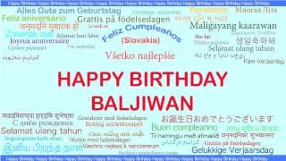 Baljiwan   Languages Idiomas - Happy Birthday