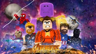 I Joined The Avengers Infinity War! *NEW GAME* (Roblox Hero War Tycoon)