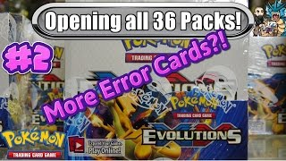 xy evolutions booster box 2 more errors opening all 36 packs pokemon tcg unboxing