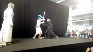 Animasia 2016 - Concours Cosplay - 15 - Star Wars - Kylo ren, Luke Skywalker et Rey
