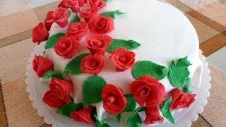 Торт с Розами из Сахарной Мастики(Торт с Розами из Сахарной Мастики В этом видео я покажу вам как сделать розы из сахарной мастики. Фото торта..., 2012-09-19T17:36:59.000Z)