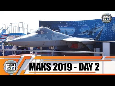 MAKS 2019 International Defence Aviation & Space Salon Su-47 Berkut Su-57 Flight Demo Moscow Russia