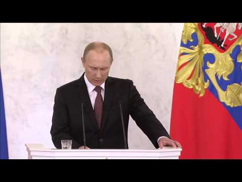 Putin Justifies Russia's Annexation of Crimea (with English subtitles)