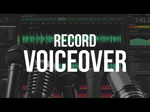 How To Record A Voice Over - Adobe Audition CS6 Tutorial