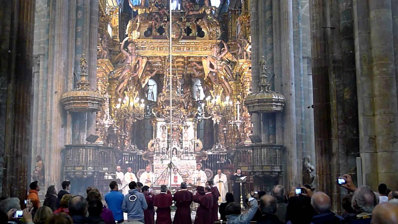 Image result for camino santiago de compostela pilgrims mass