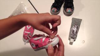 How To Bedazzle Baby Shoes