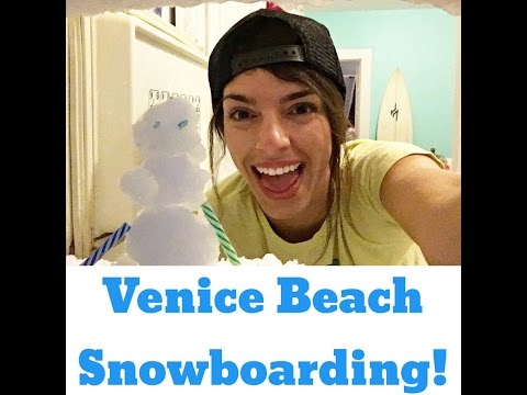 barefoot adventure babe snowboarding in Venice beach! ... kind of 😂