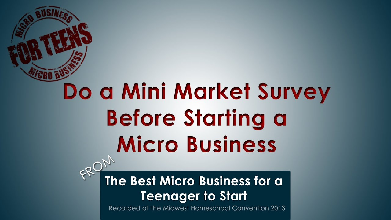 Are not Starting a business for teens