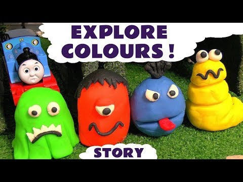 Thumbnail: Learn Colors with Thomas & Friends and Play-Doh stop motion Monsters - Hulk Spiderman Batman TT4U