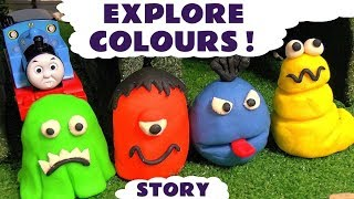 learn colors with thomas friends and play doh stop motion monsters hulk spiderman batman tt4u