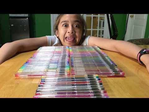 Smart Color Art 80 Colors Gel Pens Set - unboxing by Isabelle