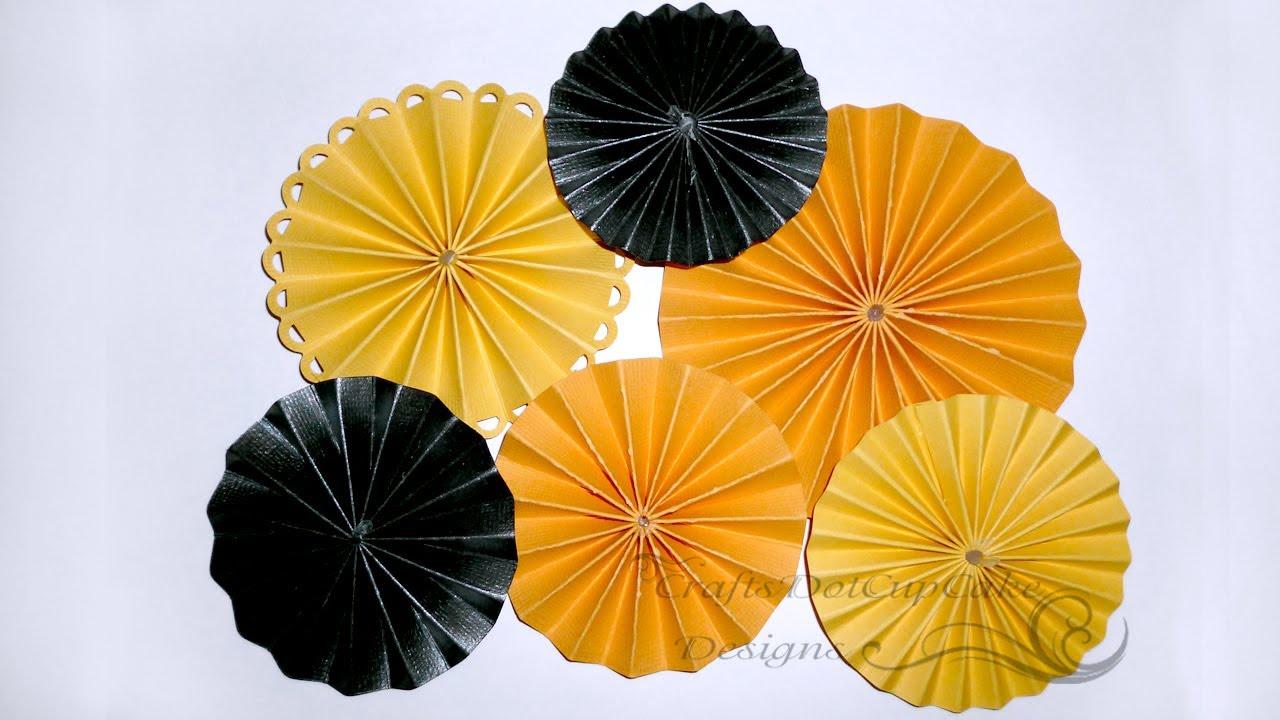 how to make paper flower rosettes