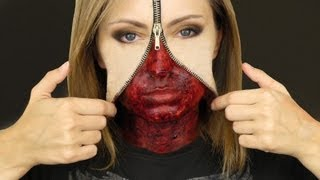 UNZIPPED ZIPPER FACE MAKEUP TUTORIAL