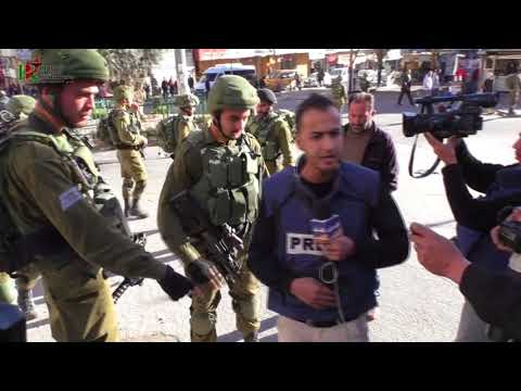 Israel army harassed the Palestinian journalists in Hebron