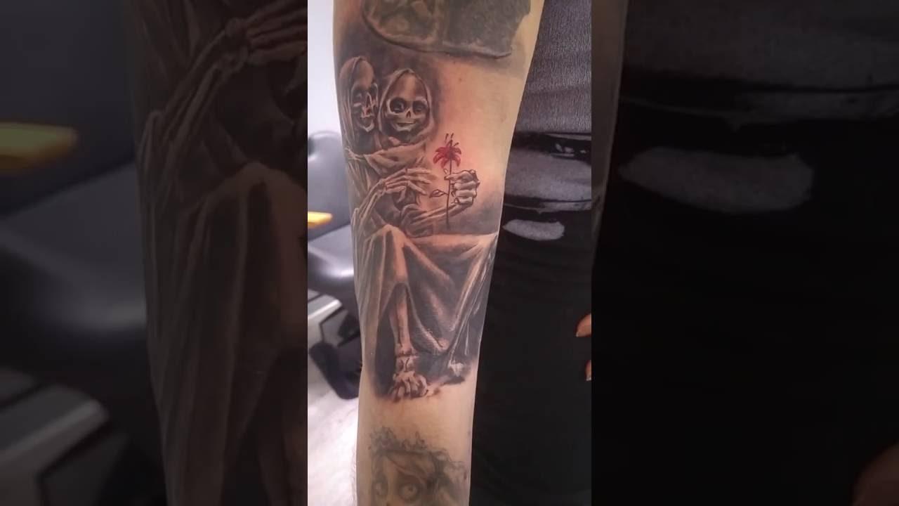 Tatouage Maman Et Bebe Squelette Youtube