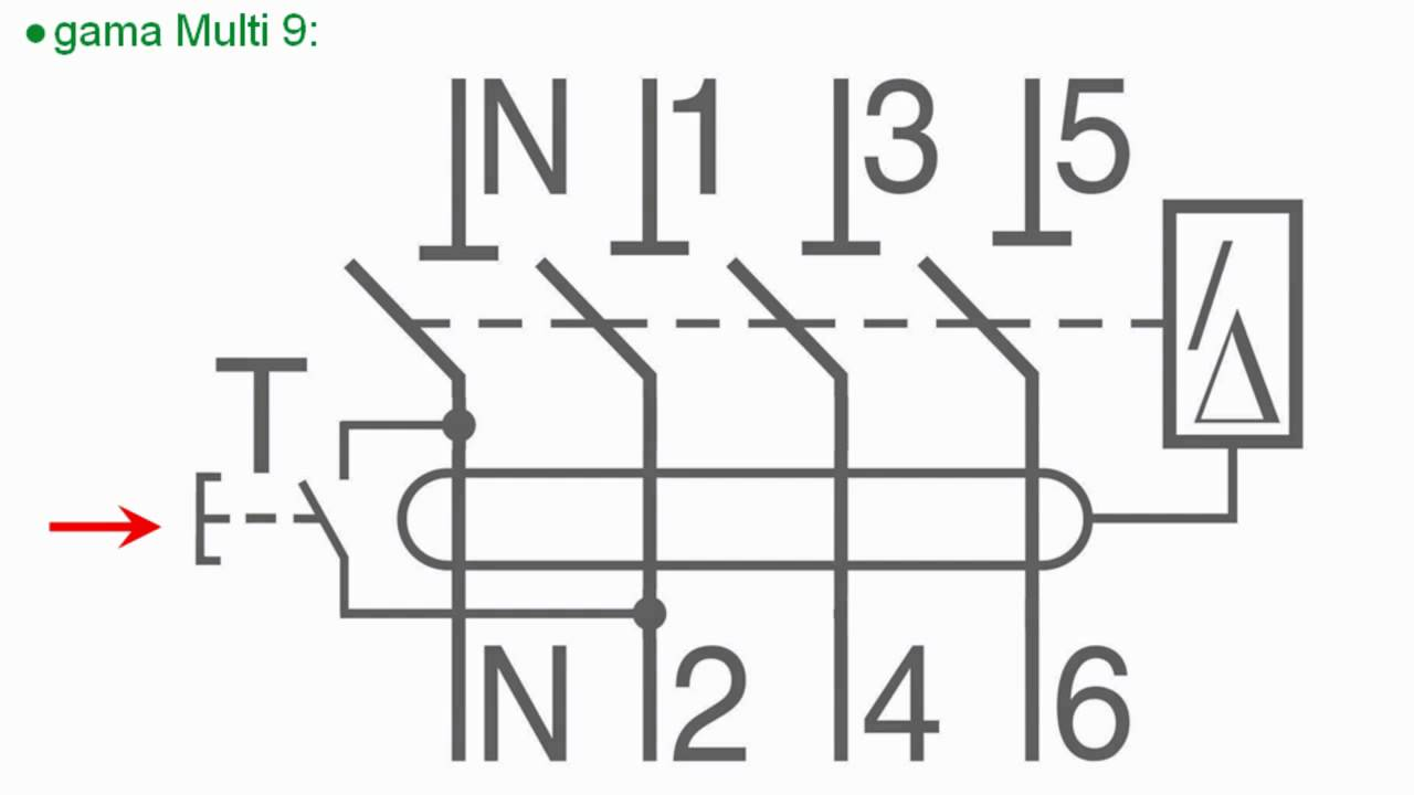 Funcionamiento del botón test en interruptores diferenciales (redes trifásicas) Schneider