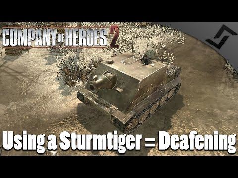 Sturmtiger in Battle of the Bulge - Company of Heroes 2 Spearhead Gameplay