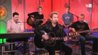 Nickelback performing lullaby acoustic