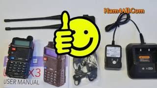 btech baofeng uv 5x3 tri band vhf 222 uhf radio