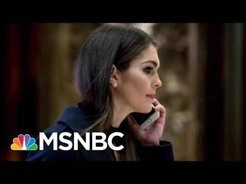 Hope Hicks Returning To The White House To Work With Jared Kushner | Hallie Jackson | MSNBC