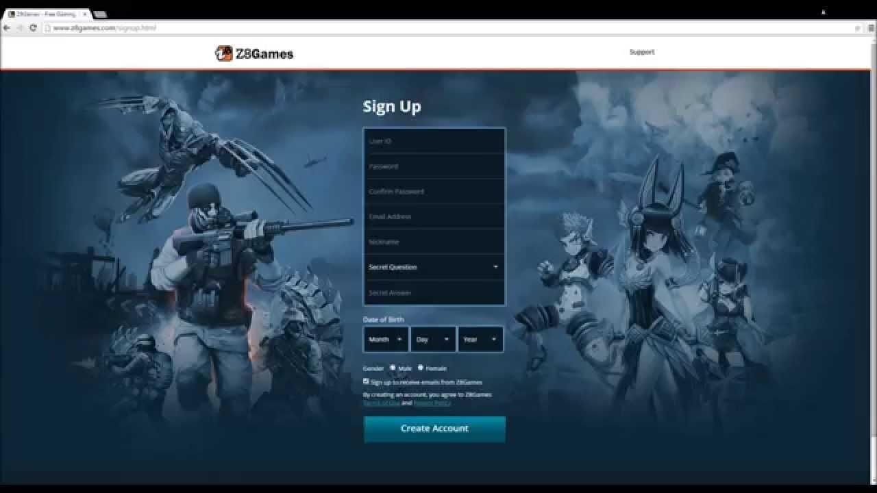 z8games forgot user id