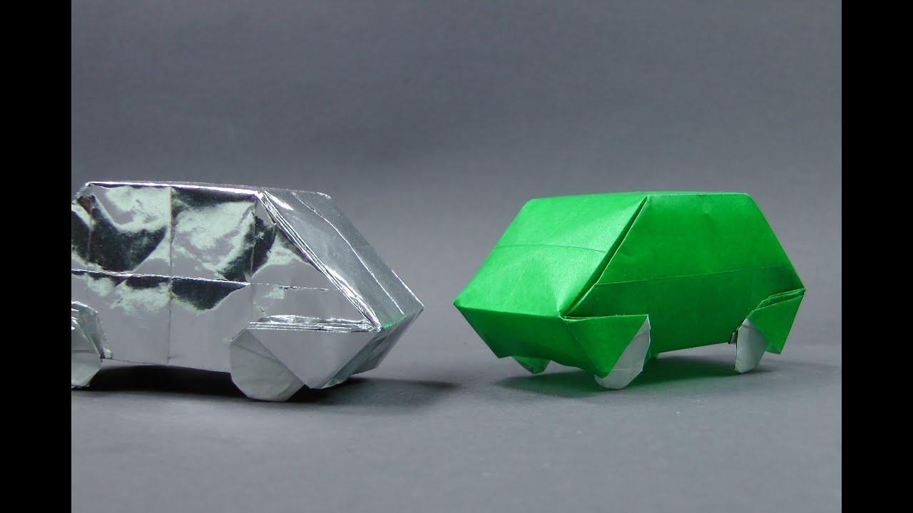 Origami Auto Faltanleitung