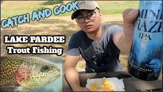 Lake Pardee Trout fishing Catch Cook