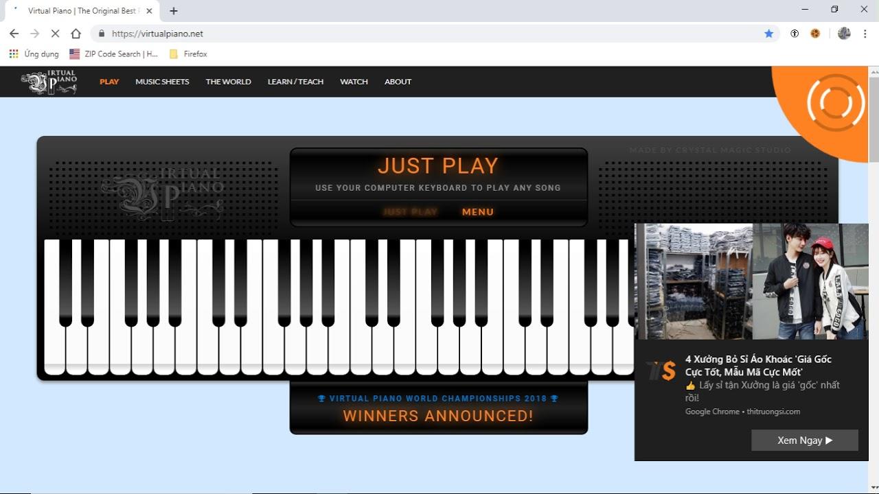 Virtual Musical Instruments – Hướng Dẫn Chơi Piano Trên Máy Tính Với NVDA