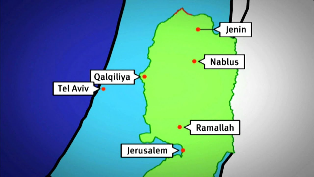 Animated map of the israeli separation barrier youtube animated map of the israeli separation barrier gumiabroncs Image collections