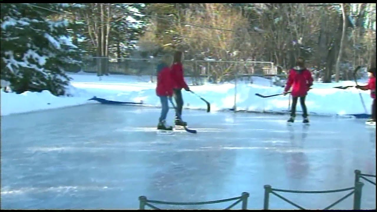 chicago man builds ice rink in his backyard youtube