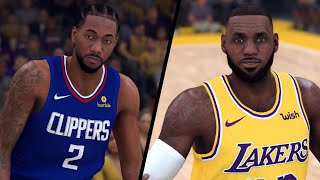 NBA 2K20 - Los Angeles Clippers vs. Los Angeles Lakers - Full Gameplay