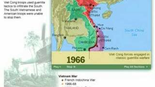 History of the Vietnam War   1947 - 1975 Map