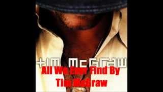 All We Ever Find By Tim McGraw *Lyrics in description*