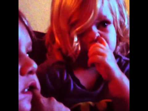 Baby feeds big brother boogers. HILARIOUS!!