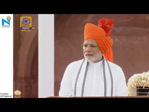 #IndependenceDay2018: PM Modi remember Subramania Bharati and Dr BR Ambedkar from Red Fort