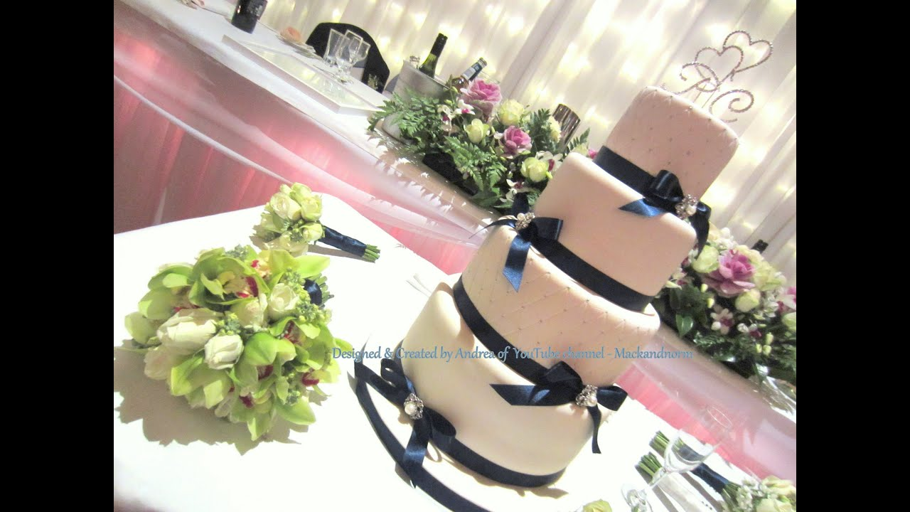 Classic Wedding Cake - Set up at Wedding Venue