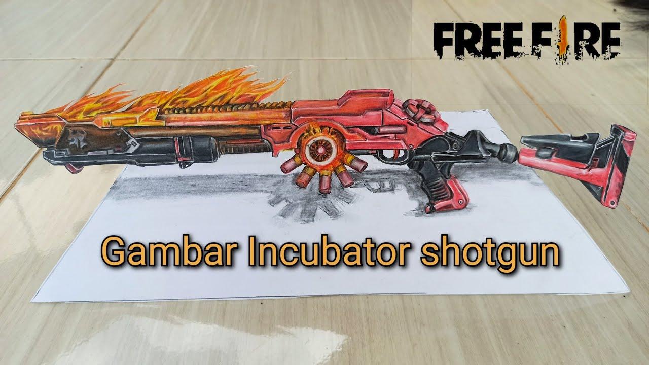 Menggambar Incubator Shotgun Gambar Senjata Free Fire Youtube