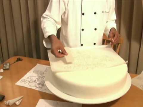 Como Transferir um desenho para bolos de Pasta Americana