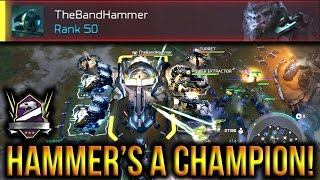 Halo Wars 2 - Hammer Hits Champion Rank! 3v3 Rift Throwdown!