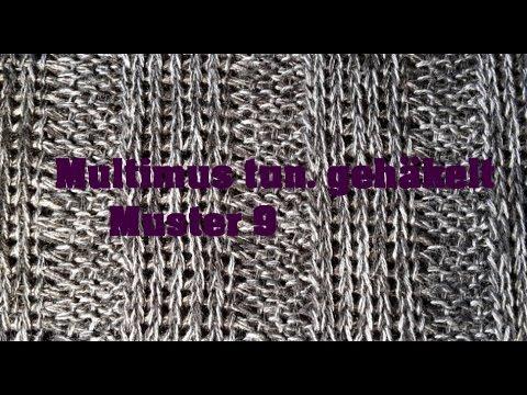 MultiMus tunesisch gehäkelt - Muster 9 - Veronika Hug - YouTube