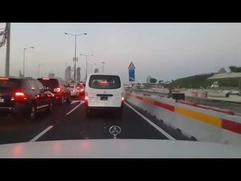 Driving to Katara Village